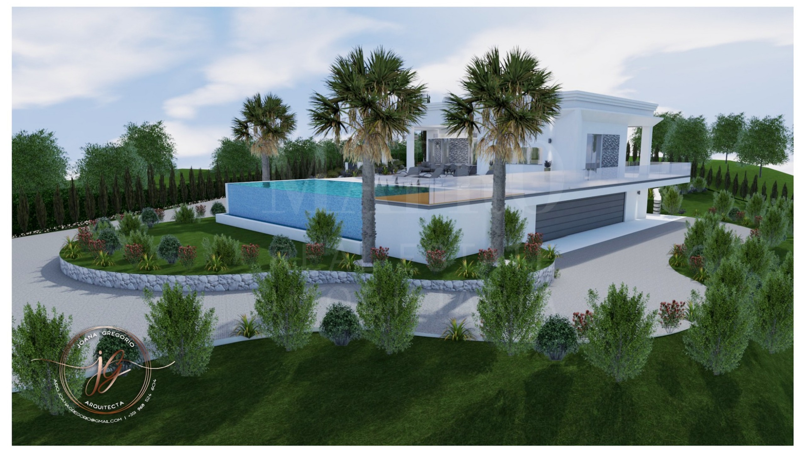 Plot with approved project for sale