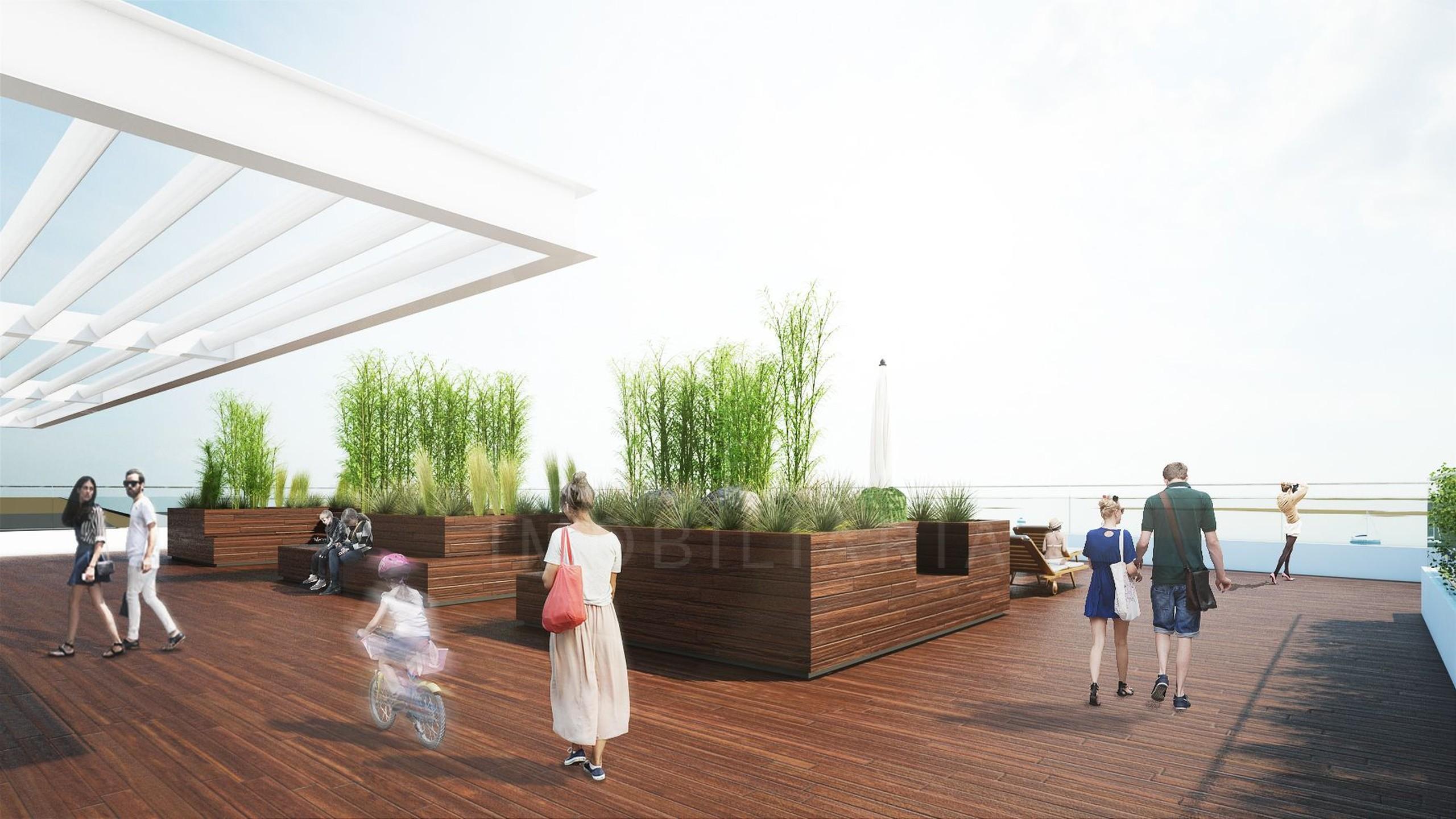 Terraço de madeira
