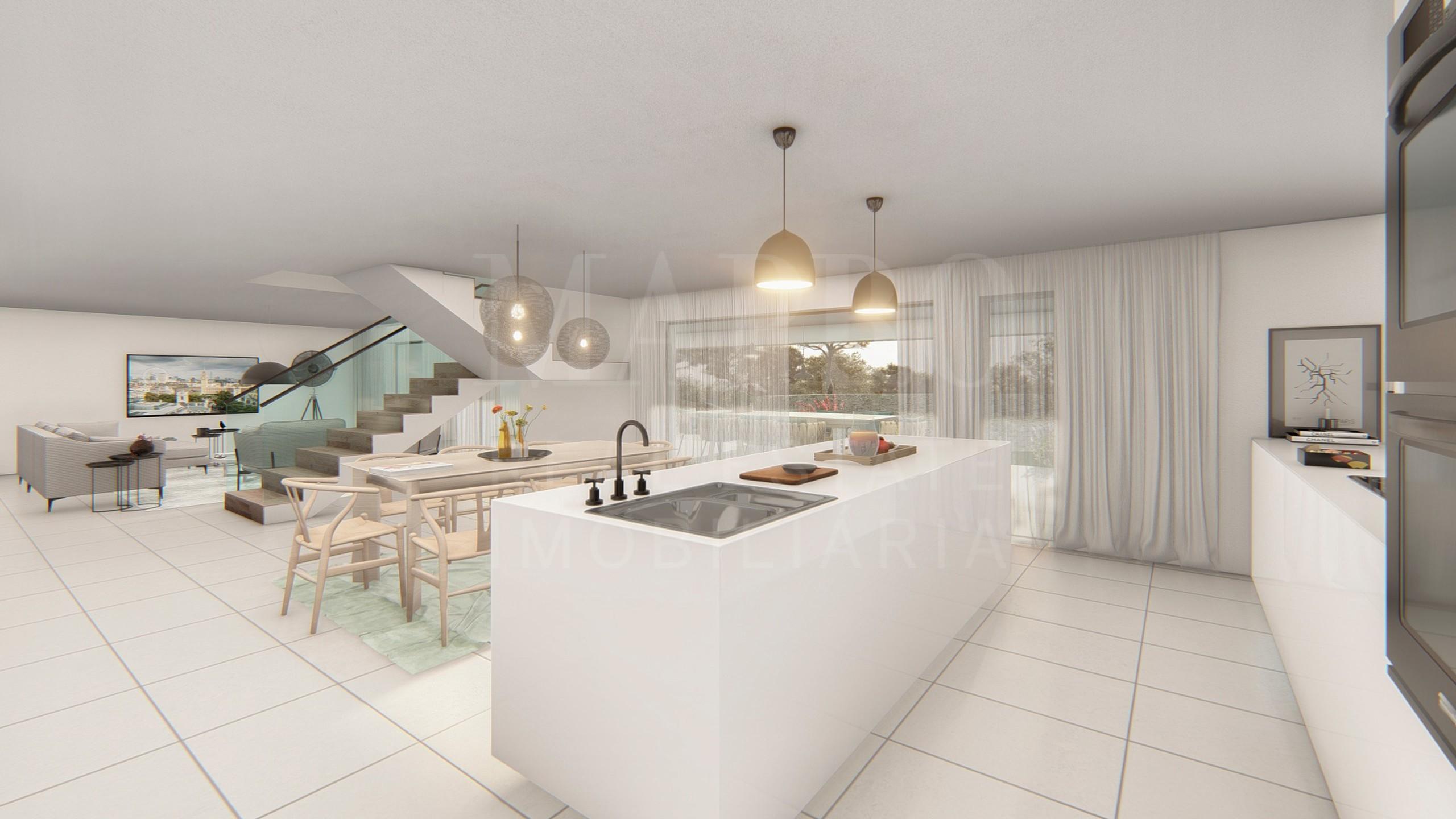 Cozinha em espaço aberto
