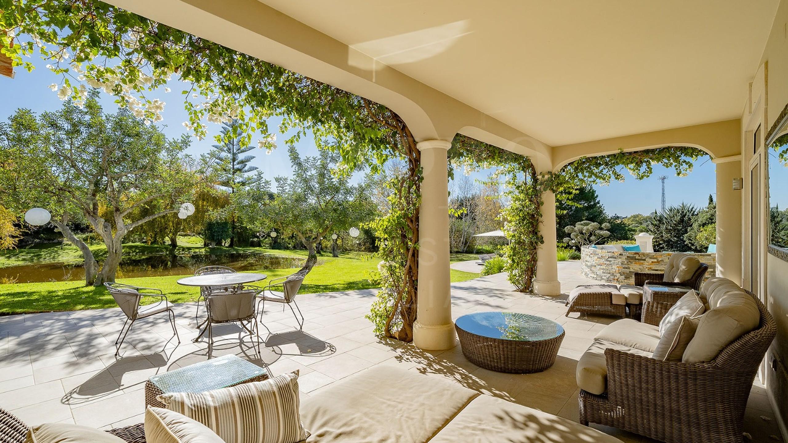 Garden with sofas