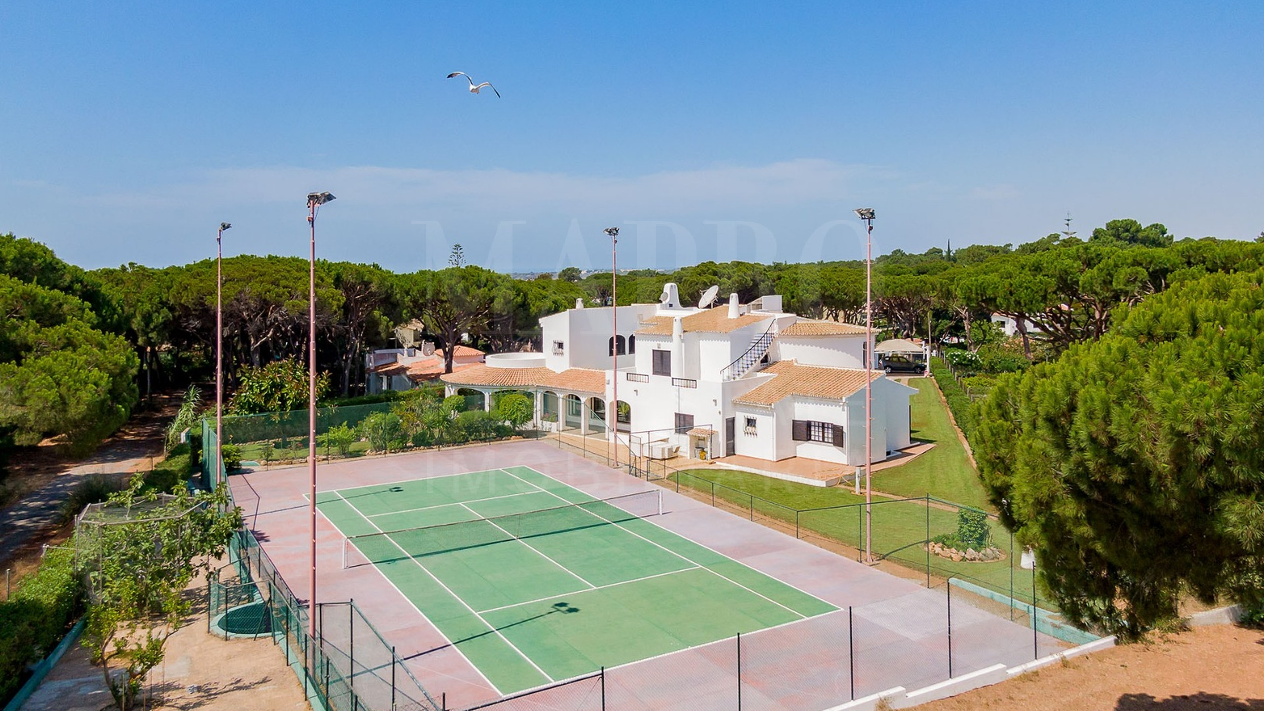 Tennis court close to the villa
