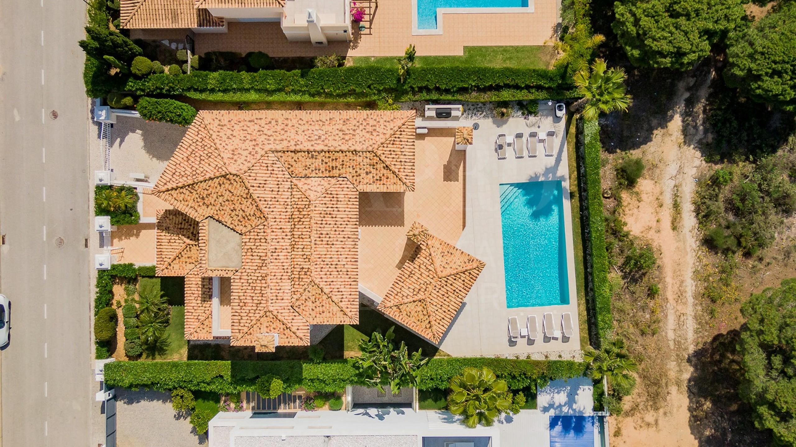 Vista aérea da casa