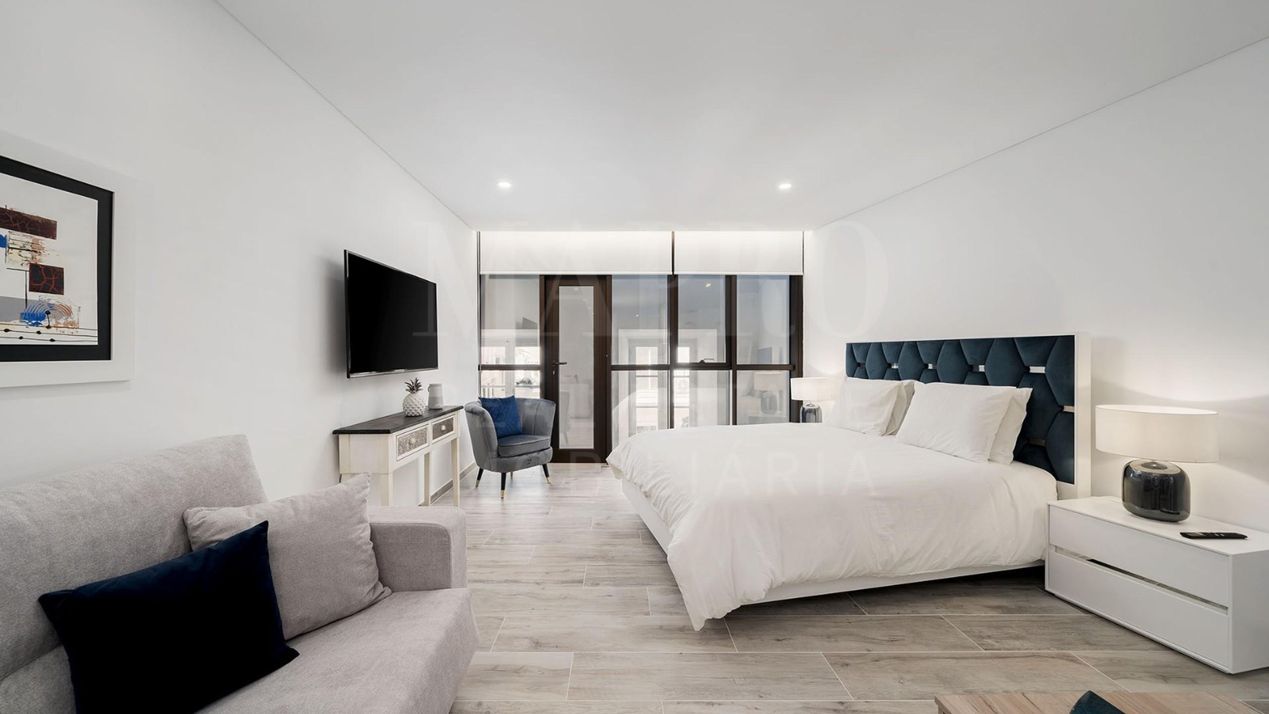 Chambre avec lit double