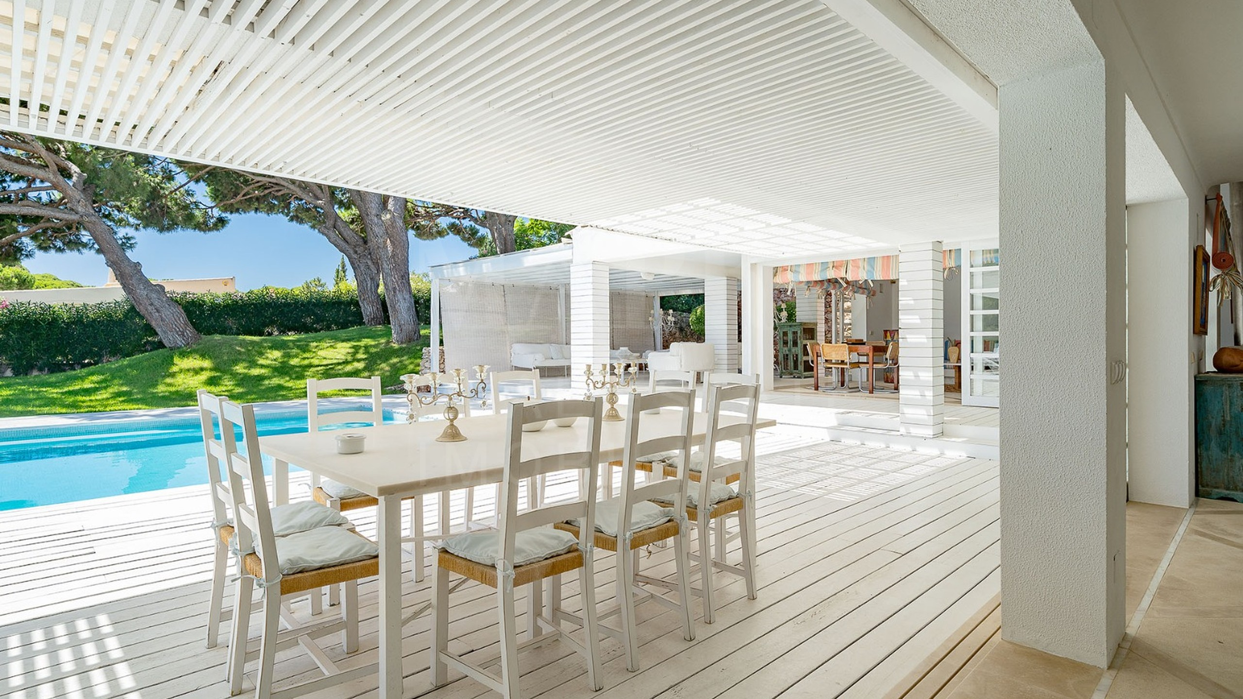 Terrace by the pool
